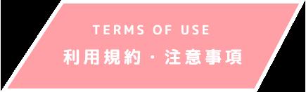利用規約・注意事項 TERMS OF USE